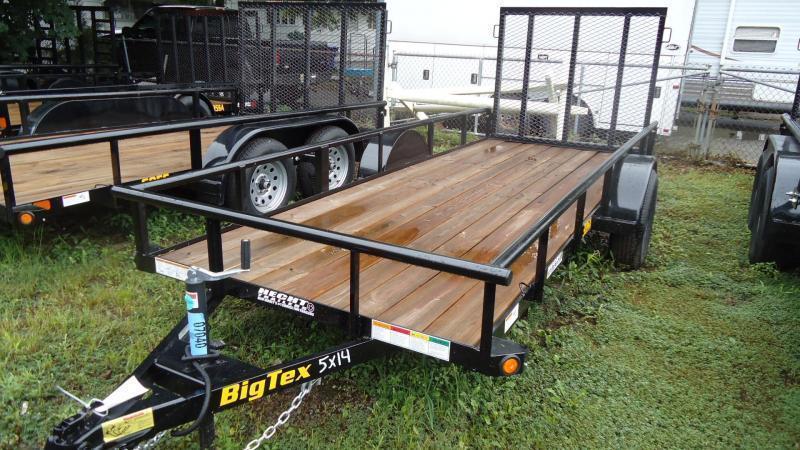 2022 Big Tex Trailers UT 5X14 30SA 14BK4RG BLACK Utility Trailer