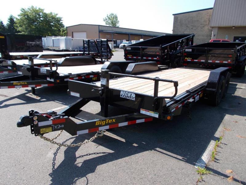2020 Big Tex Trailers EH 7X20 14FT 20BK FULL TILT BLACK Equipment Trailer