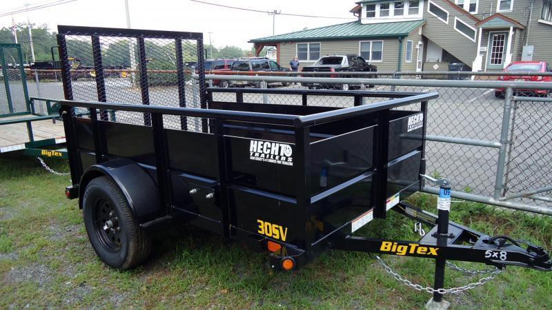 2021 Big Tex Trailers UT 5X8 30SV 08BK 4RG BLACK Utility Trailer