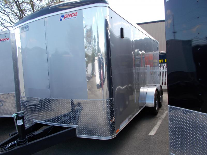 2020 Pace American 7X16 CLS TE2 18XA RAMP SVNT SILVER Enclosed Cargo Trailer