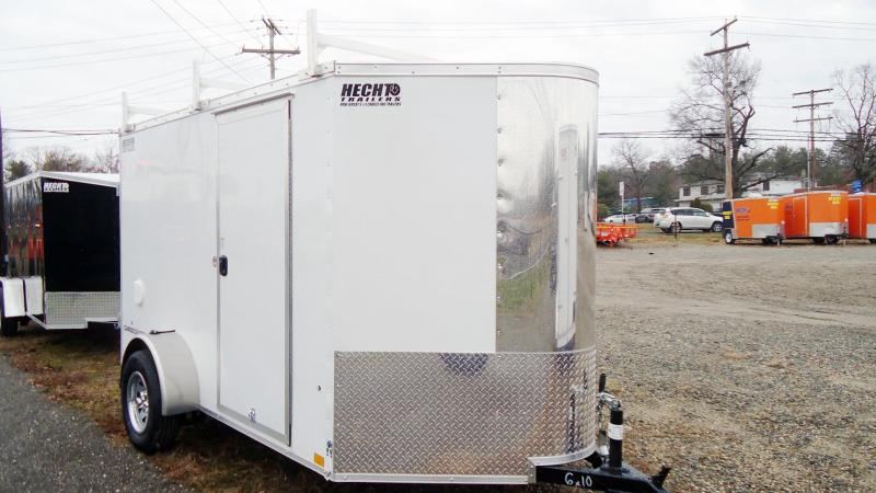 2022 Pace American 6X10 CV CARGO SPORT SI2 LDR RCK WHITE SCREWLESS Enclosed Cargo Trailer