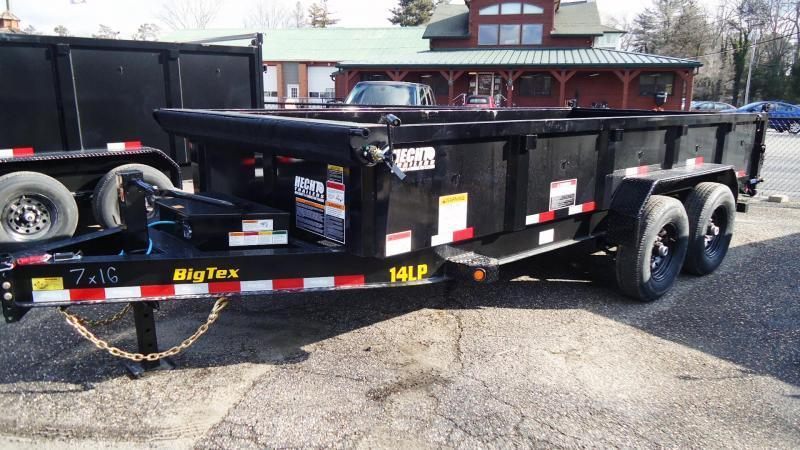 2022 Big Tex Trailers DT 7X16 14LP 16BK 6SIRPD BLACK Dump Trailer