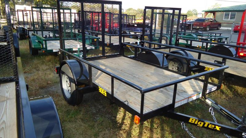 2021 Big Tex Trailers UT 5X8 30ES 08BK 4RG BLACK Utility Trailer