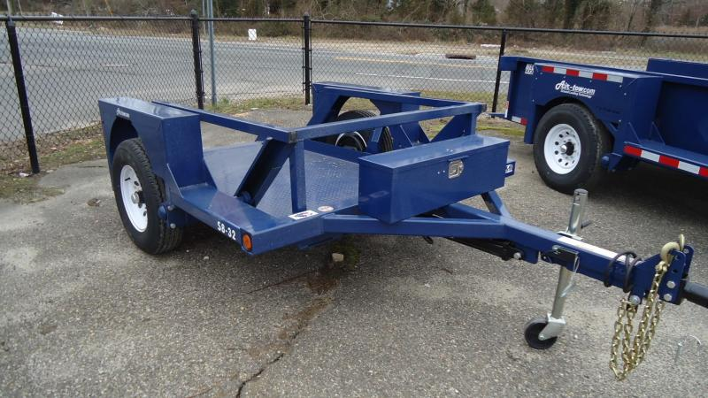 2021 Air Tow 4x8.5 S8.5-3.2K Single Axle Flatbed Utility Trailer