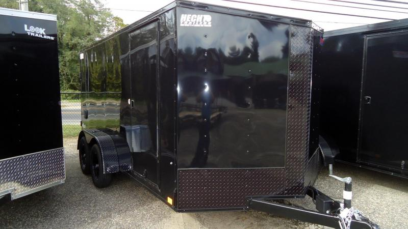 2022 Pace American 7X14 OBDLX V RAMP BO BLACK Enclosed Cargo Trailer