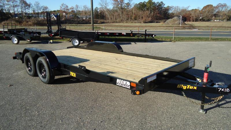 2022 Big Tex Trailers CH 7X18 70CH 18BK 4SIR DT BLACK Car / Racing Trailer