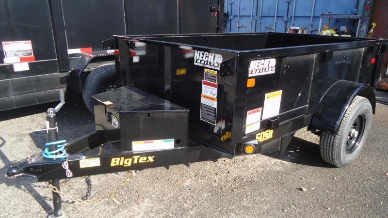 2021 Big Tex Trailers DT 5X8 50SR 08 5WDD BLACK Dump Trailer