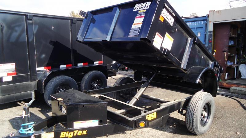 2021 Big Tex Trailers DT 5X8 50SR 08 5WDD BLACK Dump Trailer