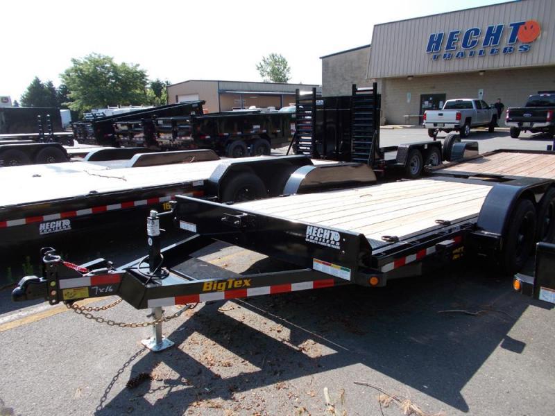 2020 Big Tex Trailers EH 7X16 10FT 16BK FULL TILT BLACK Equipment Trailer
