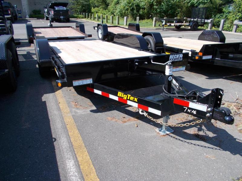 2020 Big Tex Trailers EH 7X16 10FT 16BK FULL TILT BLACK Equipment Trailer