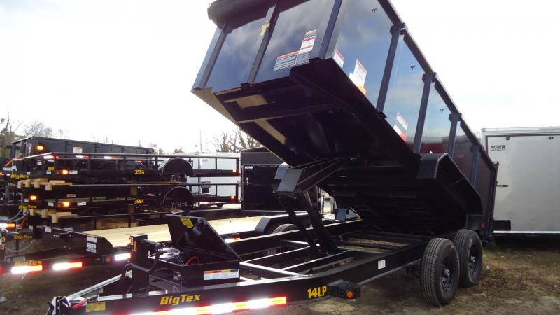 2020 Big Tex Trailers DT 7X16 14LP 16BK 6SIR P4 BLACK Dump Trailer