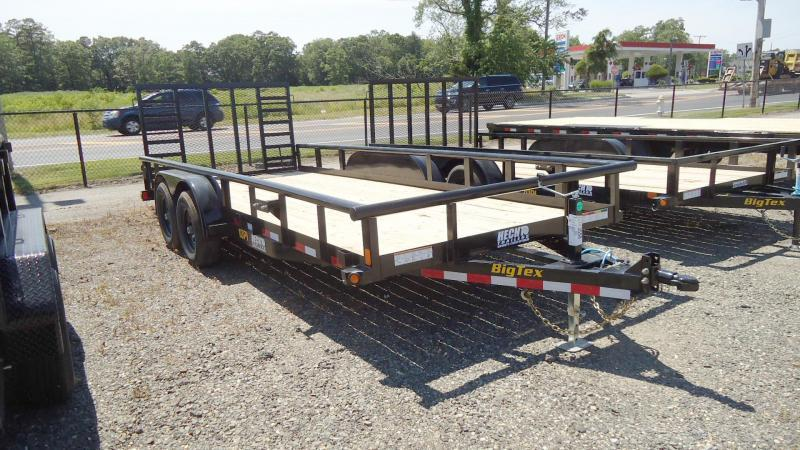 2021 Big Tex Trailers UT 7X18 10PI 18BK 4HDIR BLACK UtilityTrailer