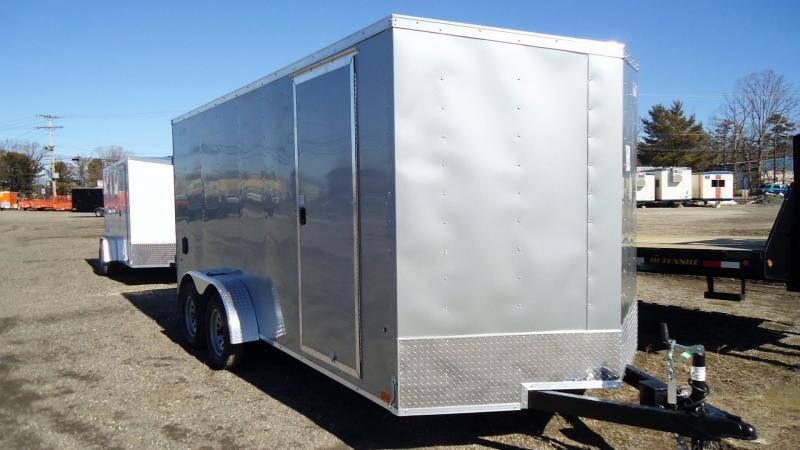 "2022 Pace American 7X16 OBDLX TE2 V 6""X SVNT SILVER Enclosed Cargo Trailer"
