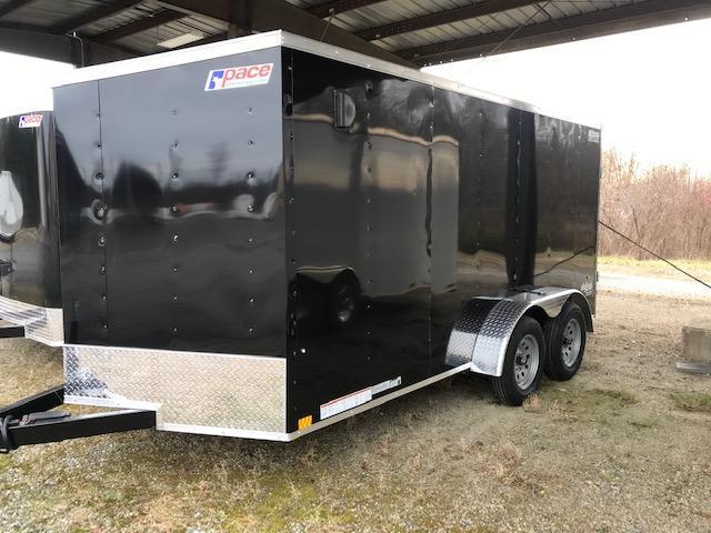2022 Pace American 7X14 OB TE2 V SVNT BLACK Enclosed Cargo Trailer