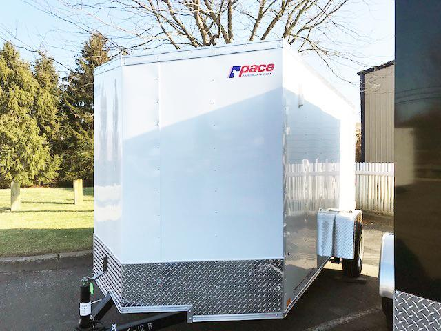 2022 Pace American 6X12 OBDLX SI2 V RAMP SVNT WHITE Enclosed Cargo Trailer