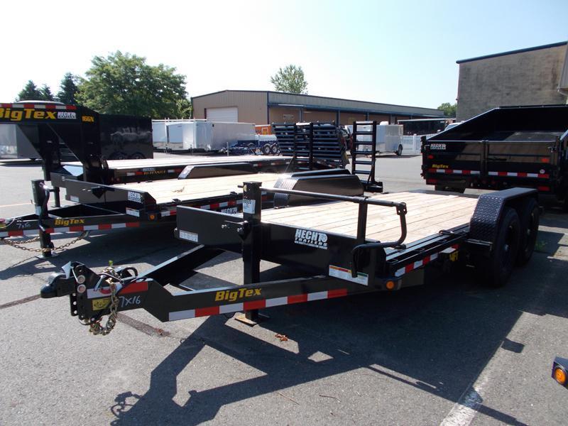2020 Big Tex Trailers EH 7X16 14FT 16BK FULL TILT BLACK Equipment Trailer