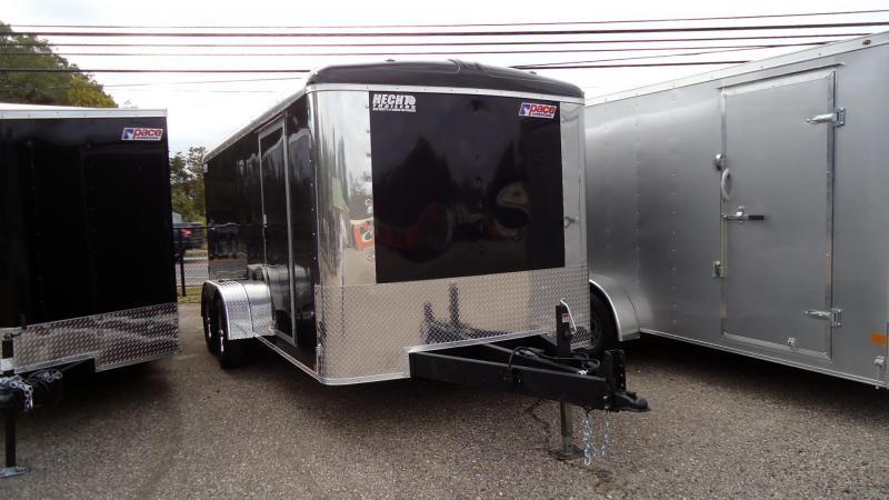 2022 Pace American 7X16 PLS TE2 RAMP SVNT BLACK Enclosed Cargo Trailer