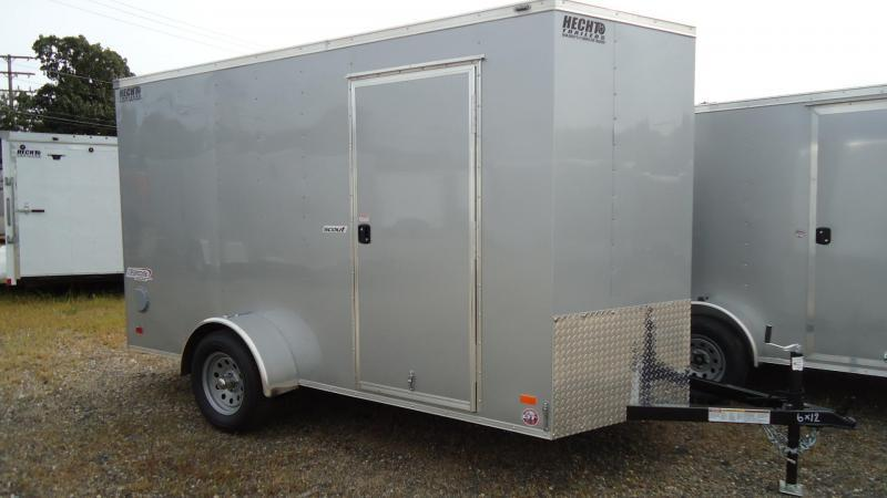 "2020 Bravo Trailers 6X12 SC SA 6""X 18V RAMP APP SILVER Enclosed Cargo Trailer"