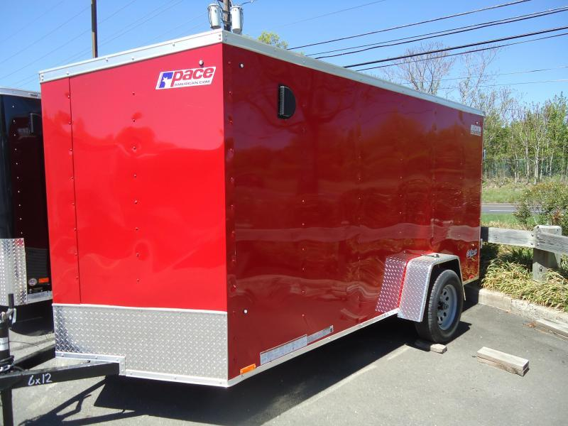 2020 Pace American 6X12 OBDLX SI2 24VS RAMP SVNTS RED Enclosed Cargo Trailer