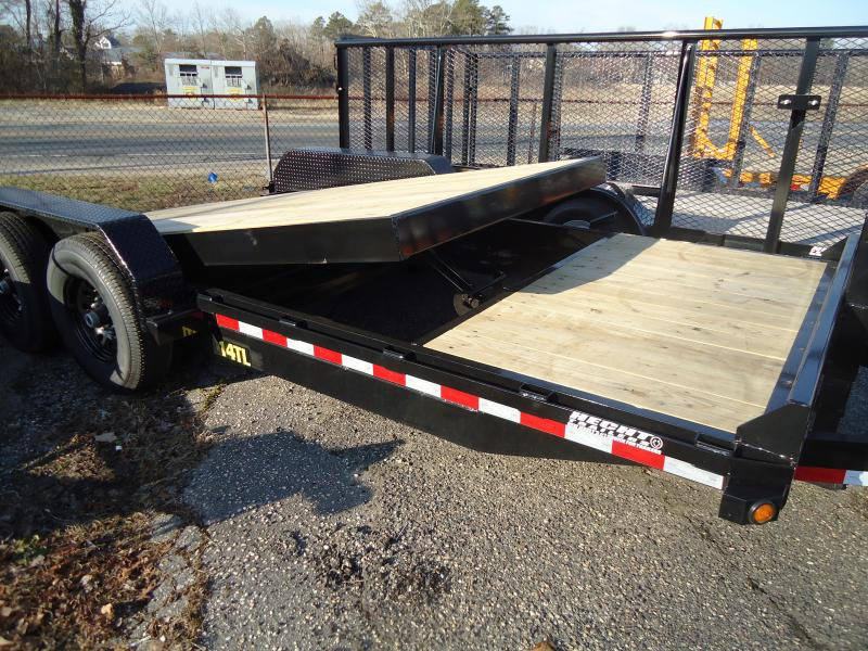 2021 Big Tex Trailers EH 7X16+4 14TL 20BK TILT BLACK Equipment Trailer