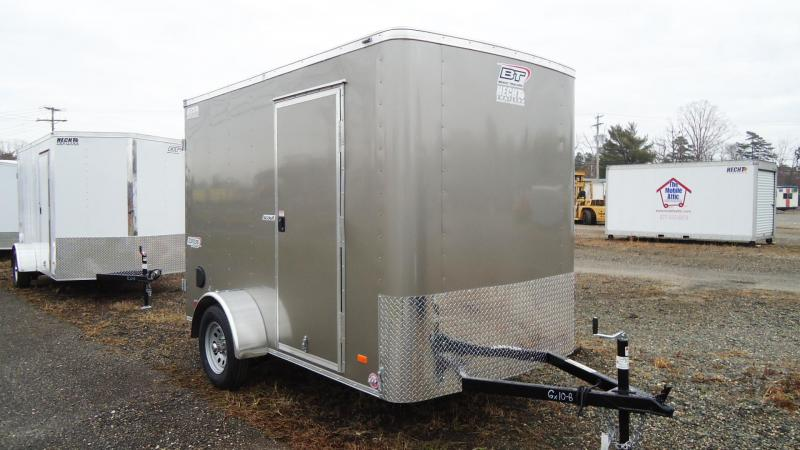 "2021 Bravo Trailers 6X10 SC SA 6""X APP PEWTER Enclosed Cargo Trailer"