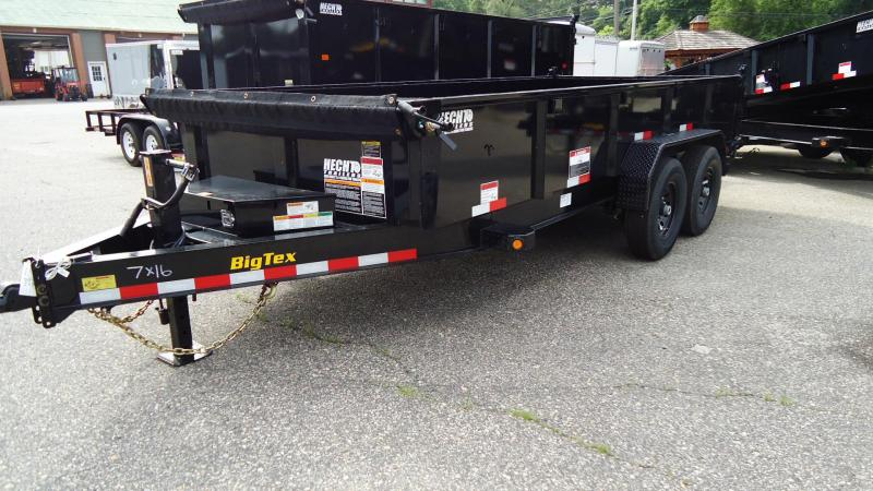 2020 Big Tex Trailers DT 7X16 14LP 16BK6SIRPD BLACK Dump Trailer