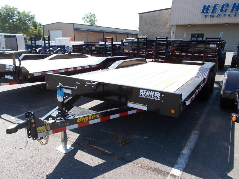 2021 Big Tex Trailers EH 7X18 10DF 18BK 4 FT KNEE BLACK Equipment or Car/ Racing Trailer