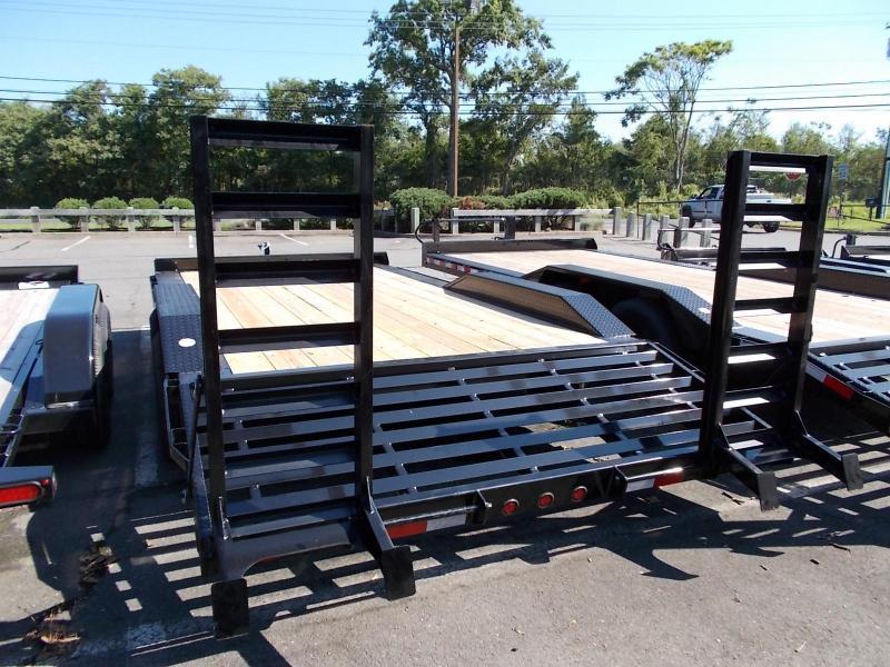 2021 Big Tex Trailers EH 7X18 10DF 18BK 4 FT KNEE BLACK Equipment or Car/ Racing Trailer