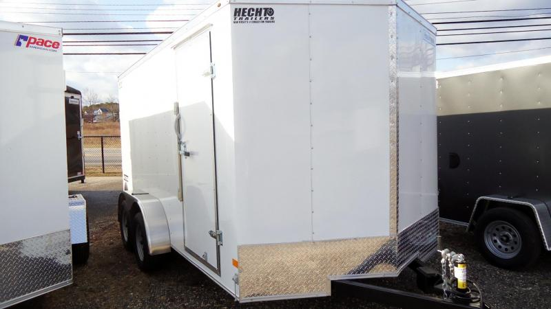 2021 Haulmark 7X14 PPD T2 RAMP WHITE Enclosed Cargo Trailer