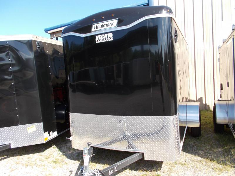 2020 Haulmark 6X10 PPT S2 RAMP DRNG STB JCK BLACK Enclosed Cargo Trailer