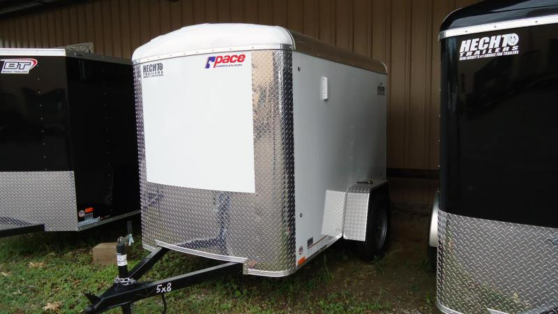 2020 Pace American 5X8 JTSE SI2 SVNT WHITE Enclosed Cargo Trailer