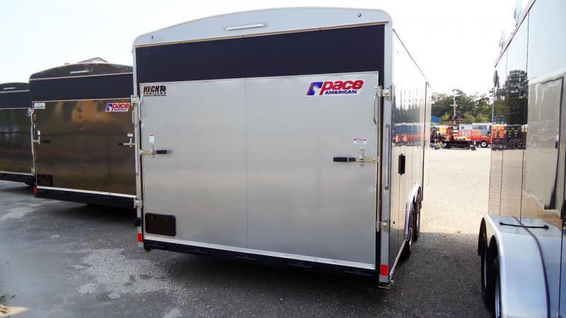 2022 Pace American 8.5X18 PL TE2 RAMP SVNT SILVER Car / Racing Trailer