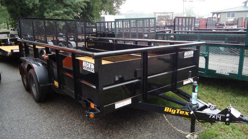 2022 Big Tex Trailers UT 7X14 70TV 14BK4RG BLACK Utility Trailer