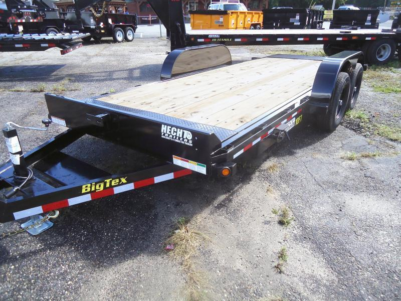 2019 Big Tex Trailers EH 7X18 10FT 18BK FULL TILT 2EB BLACK Equipment Trailer