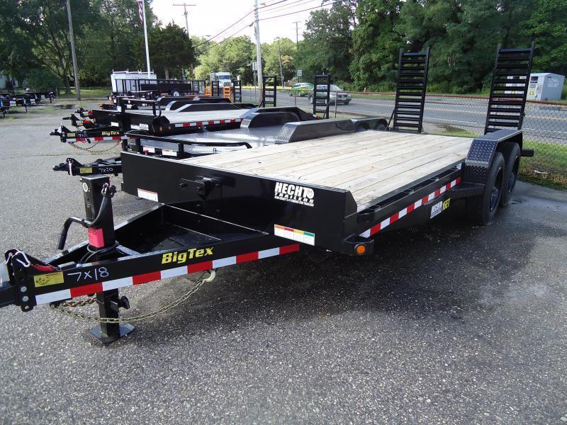 2021 Big Tex Trailers EH 7X22 16ET 19+3 BK 5SUR BLACK Equipment Trailer