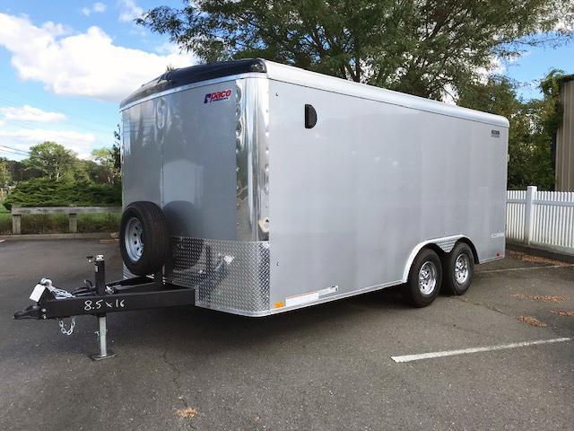 2022 Pace American 8.5X16 PLS TE3 RAMP SVNT SILVER Car / Racing ENCLOSED CARGO Trailer