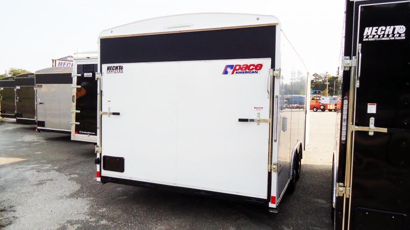 2022 Pace American 8.5X20 PL TE2 RAMP SVNT WHITE Car / Racing Trailer