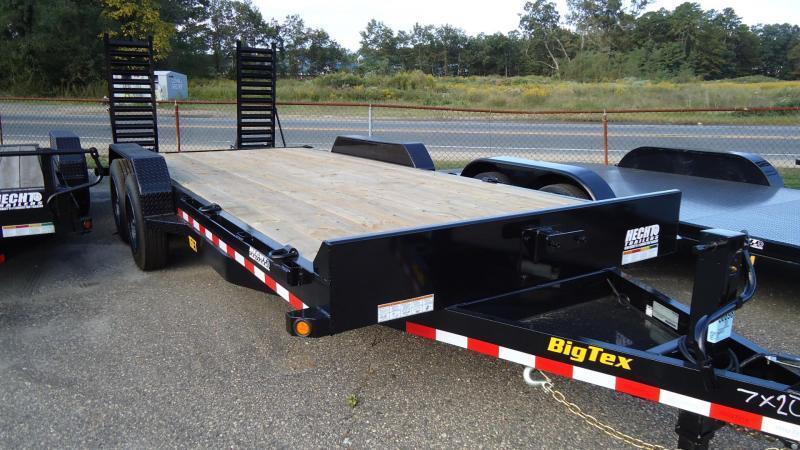 2020 Big Tex Trailers EH 7X20 16ET 17+3 BK 5 KR KNEE BLACK Equipment Trailer