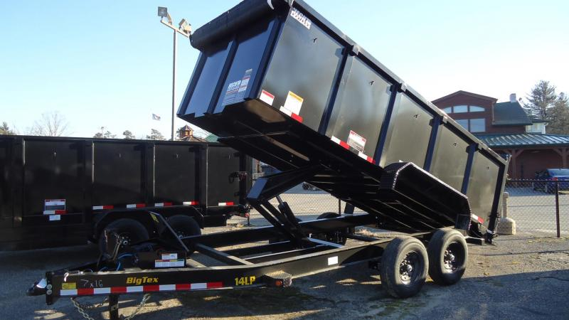 2021 Big Tex Trailers DT 7X16 14LP 16BK 6SIR P4 BLACK Dump Trailer