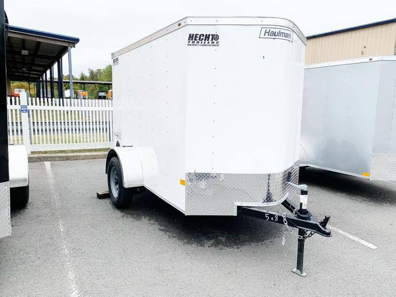2021 Haulmark 5X8 PP S2 WHITE Enclosed Cargo Trailer