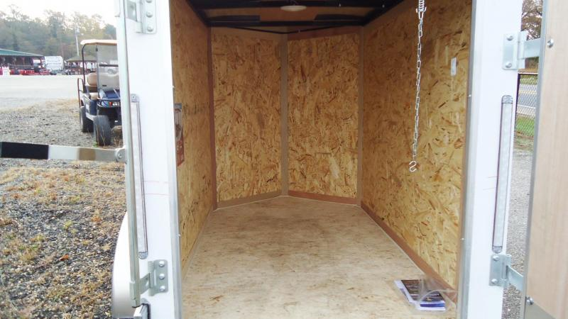 2021 Pace American 4X6 JV SI2 18V WHITE Enclosed Cargo Trailer