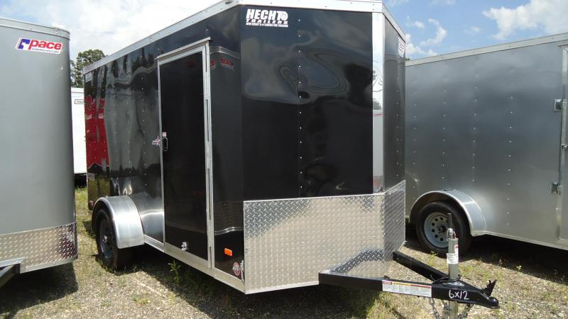 2020 Bravo Trailers 6X12 ST SA 18V RAMP DRNG BLACK Enclosed Cargo Trailer