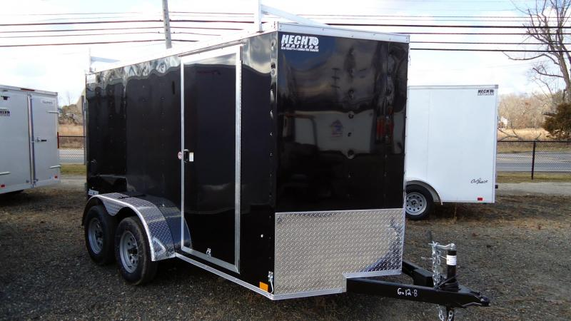 2022 Pace American 6X12 JV TE2 V LADDER RACKS SVNT BLACK Enclosed Cargo Trailer