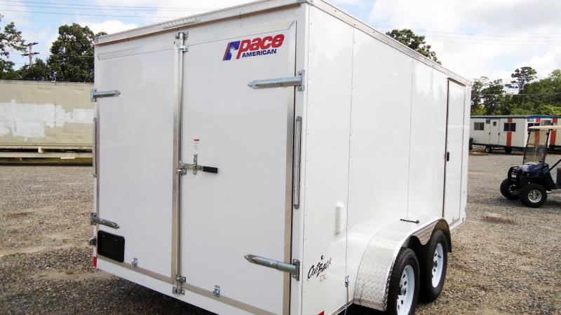2022 Pace American 7X12 OBDLX V SVNTS WHITE Enclosed Cargo Trailer