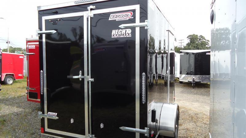 "2020 Bravo Trailers 6X10 SC SA 6""X 18""V APP BLACK Enclosed Cargo Trailer"