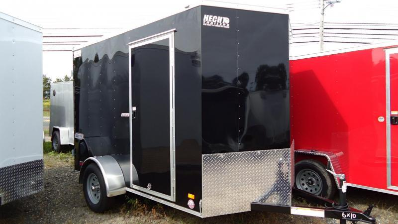 "2020 Bravo Trailers 6X10 SC SA 6""X 18""V APP BLACK Enclosed Cargo Trailer"