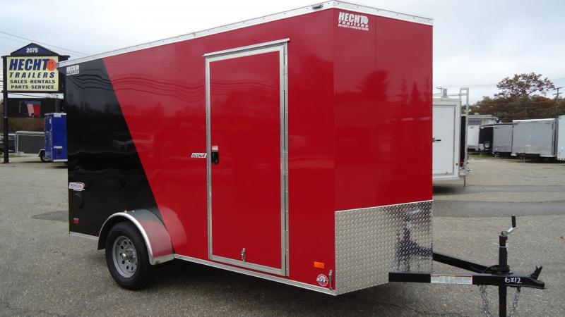 2020 BRAVO TRAILERS 6X12 SC SA 6X 18V RAMP SC RED BLACK Enclosed Cargo Trailer