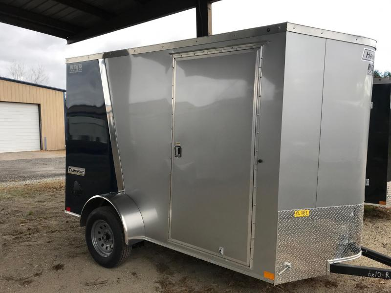 2020 Haulmark 6X10 TSV S2 RAMP SILVER & BLUE Enclosed Cargo Trailer