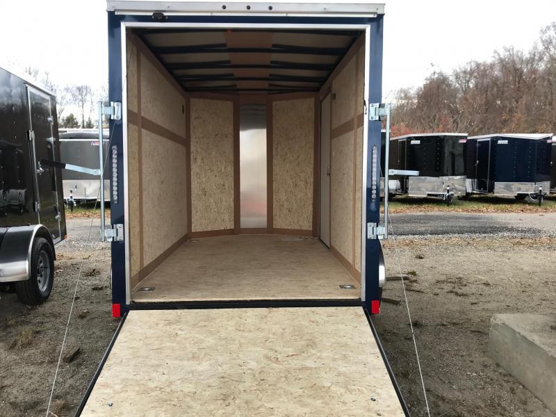 2020 Haulmark 6X10 TSV S2 RAMP SILVER & BLUE Enclosed Cargo Trailer