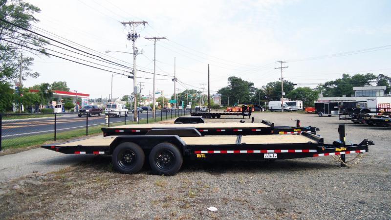 2022 Big Tex Trailers EH 7X22 16TL 16+6BK TILT BLACK Equipment Trailer